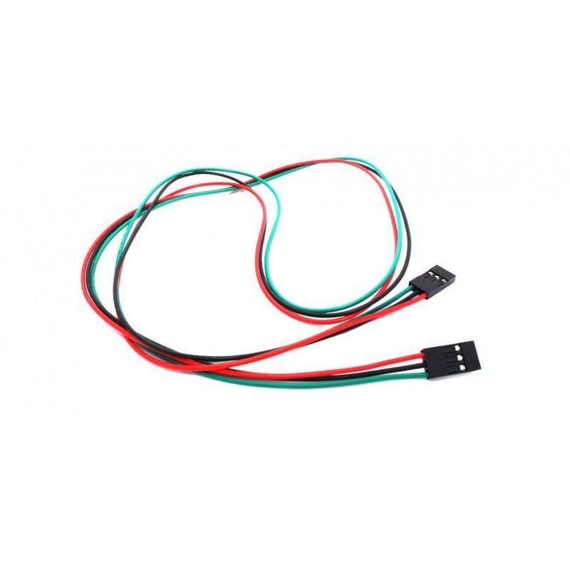 Câble 3 pins femelle femelle 70cm connecteur Dupont