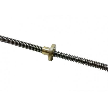 2 vis / tiges trapézoïdales avec écrous 8*345 mm