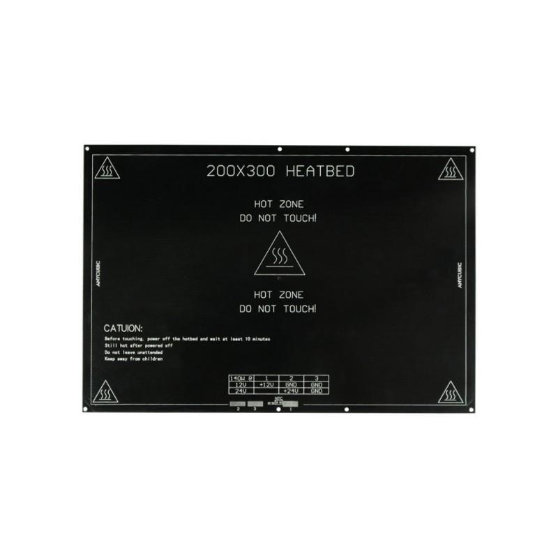 Plateau chauffant MK3 aluminium 200*300mm
