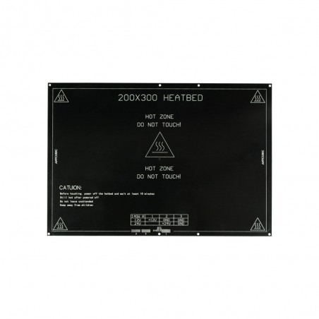 Plateau chauffant MK2 aluminium 200*300mm