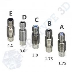Gorge pour filament 1.75 mm E3D V6 avec PTFE