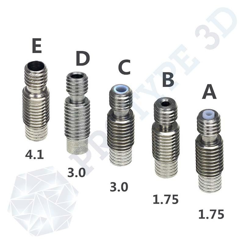 Gorge pour filament 1.75 mm E3D V6 sans PTFE
