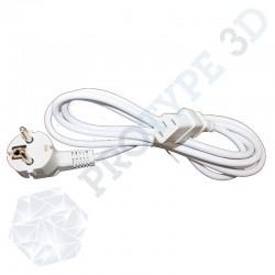 Câble d'alimentaion schuko blanc 2M