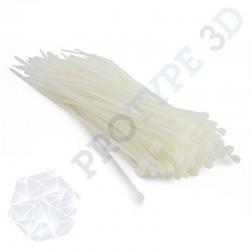 100 colliers rilsans blanc