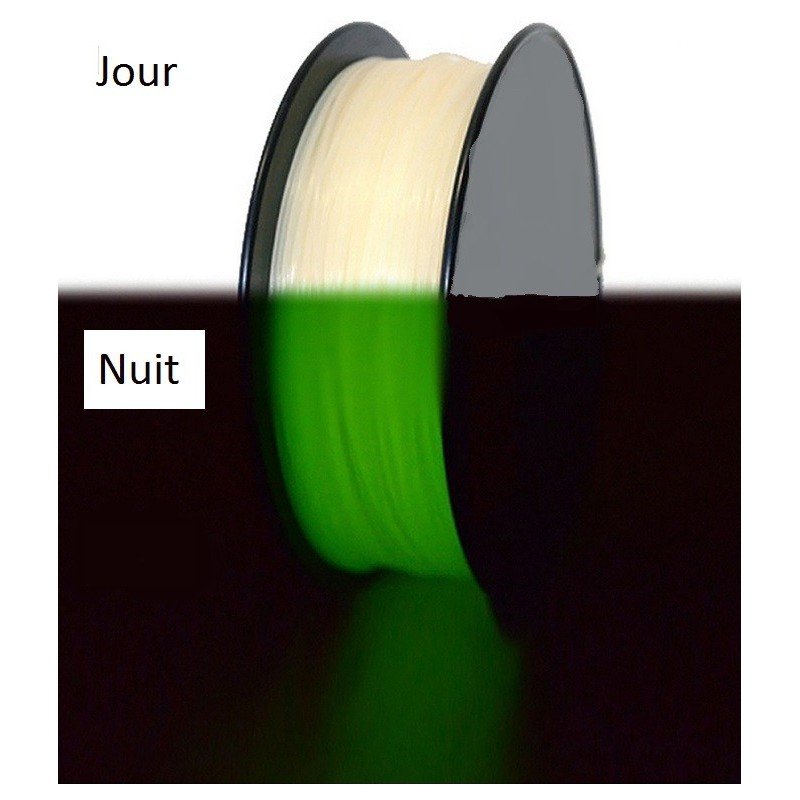 PLA 1.75mm Phosphorescent vert 1kg